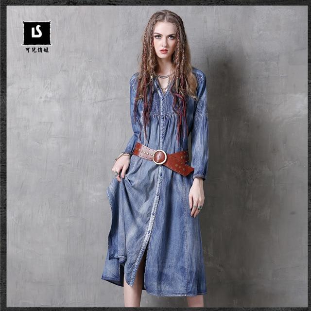 Jeanskleid western style
