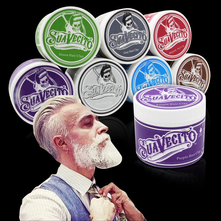 1 Piece Original Suavecito Pomade Hair Coloring Hair Styling Wax Mud Hair Clay Gray Purple Green Burgundy Brown Blue Silver High Quality Beauty & Health