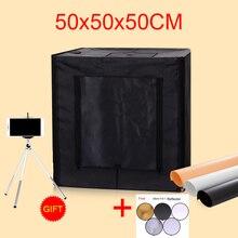 50*50*50 см LED Аксессуары для фотостудий софтбокс Стрельба Свет Палатка фотографии Софтбоксы lightbox комплект с бесплатный подарок