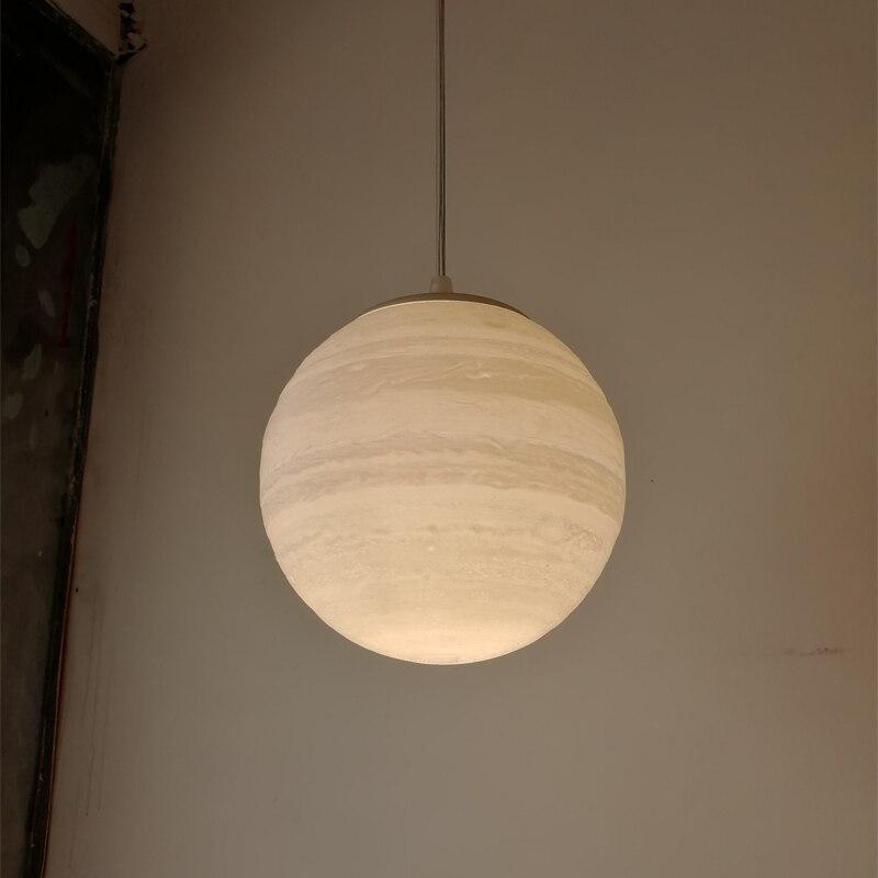 3D Printing Jupiter Pendant Lights 3D Print Moon Droplight Ball Bedroom Dining Hall Home Lighting
