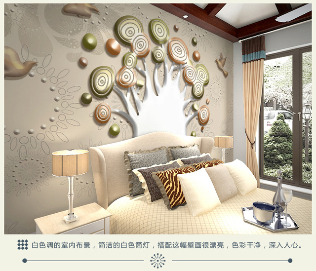 3d mur vid o murale salon tv fond papier peint rev tement mural d coratif peinture pour chambre. Black Bedroom Furniture Sets. Home Design Ideas