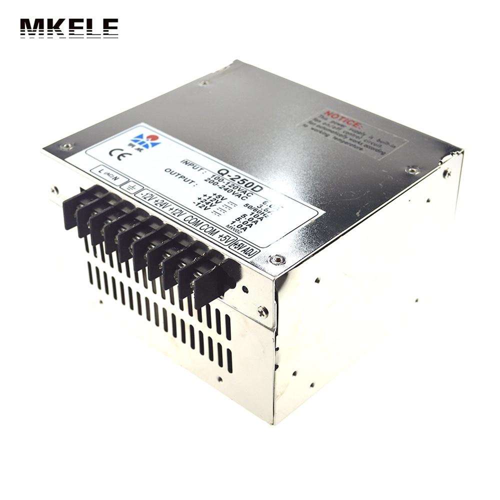 High Efficiency Quad Output 250W 12V Switching Power Supply 5V 24V -12V  AC-DC converter Q-250D v000225070 main board for toshiba satellite c650 c655 laptop motherboard 1310a2355303 gm45 ddr3 free cpu