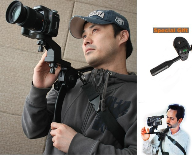 Photography bracket Hand Free Shoulder Pad for Camcorder DV Video Camera Support 6KG Worldwide Free
