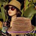 Nueva moda sombreros de las mujeres sombrero de verano, muchachas coloridas sunhats Jazz Sombrero de playa Sombrero de paja sombreros para las mujeres, de preámbulo paille femme