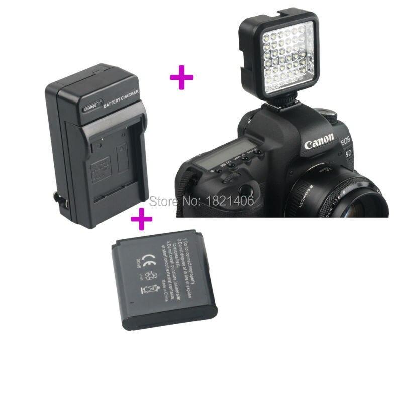 W36 36 шт. LED Видео Свет Лампы + Зарядное Устройство + Аккумулятор для Nikon Canon Pentax Olympus <font><b>DSLR</b></font> Camera DV Видеокамер Горячий Башмак