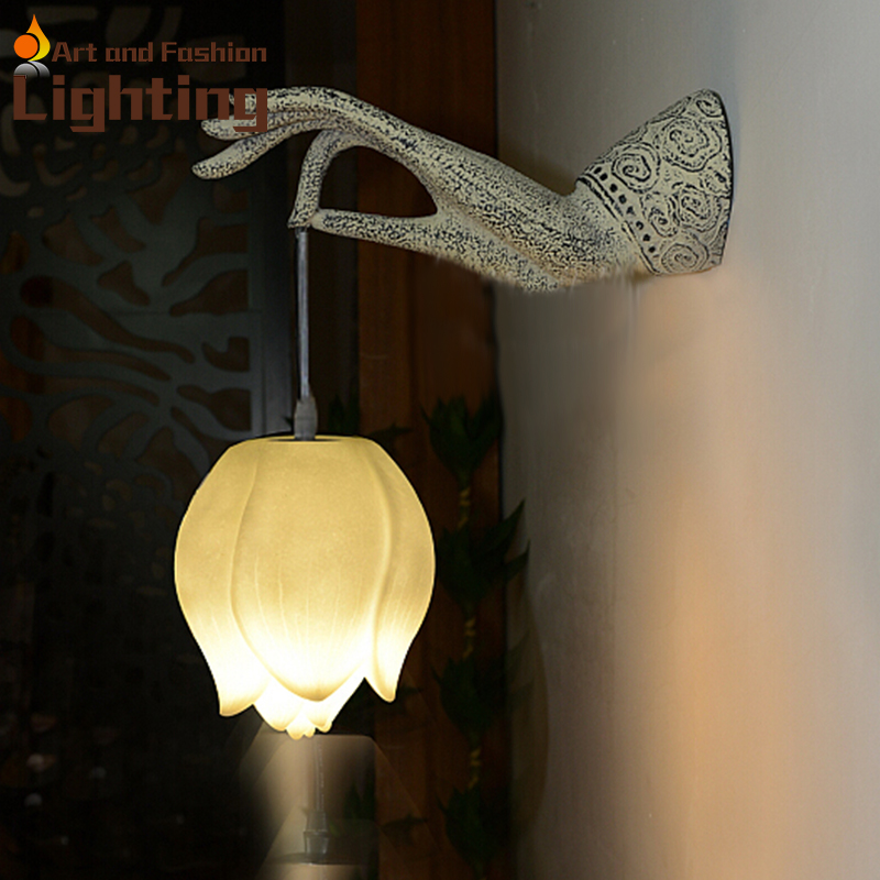 Wall Lamp Design Sri Lanka : Aliexpress.com : Buy Special Buddha s hand design wall lamp hallway corridor light from Reliable ...