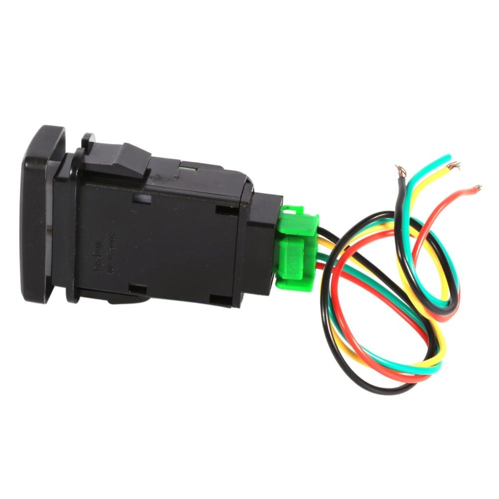 5 Pin Black Plastic Car Push Button Fog Light Switch for CRV Qiilu Car Fog Light Switch