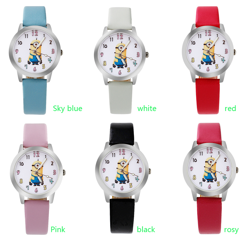 ot03 NEW Cartoon 3D Children Watch Good Gift kids watch Despicable Me Minions fashion wristwatch fvip wholesale wallet ghost busters minions despicable me doctor who rolling stone inside out nintendo wallets