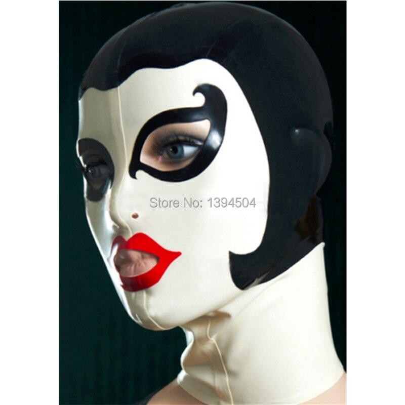 nya sexiga produkter kvinnliga kvinnor Latex drama teatraliska domino Mask handgjorda Hoods tillbaka dragkedja anpassa storlek Fetisch kostym zentai