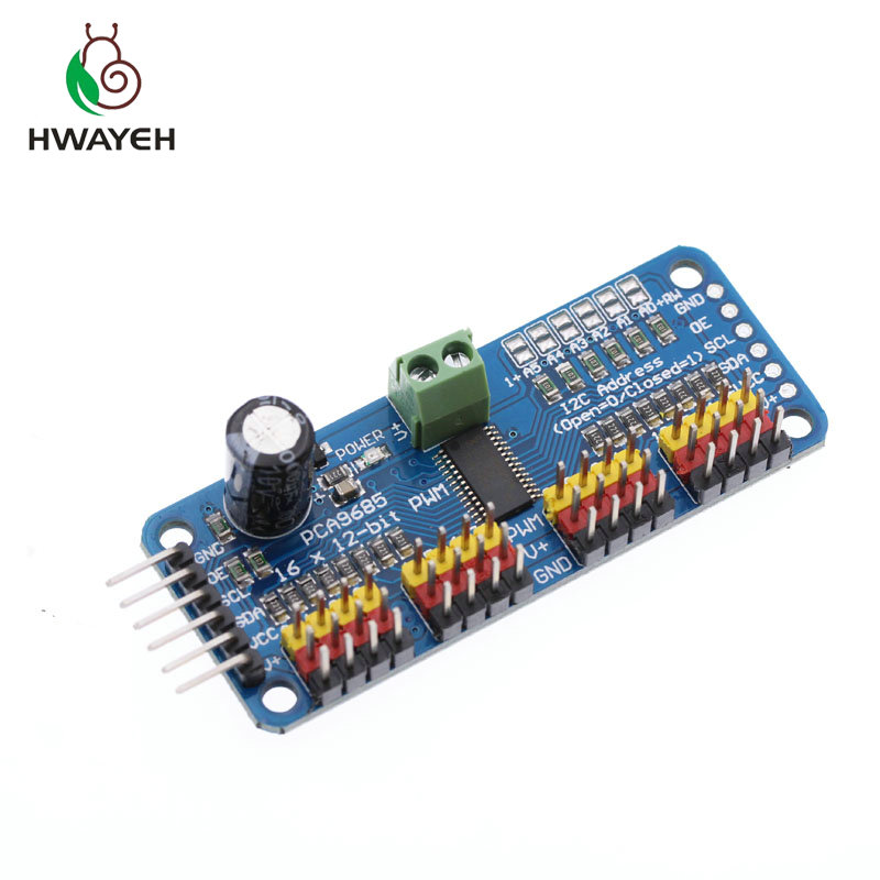 BBOXIM 1PCS 16 Channel 12-bit PWM//Driver-I2C Interface PCA9685 for Raspberry pi Shield Module Shield