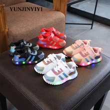 LED Lighted baby casual shoes hot sales new brand cool sneakers high quality girls boys infant tennis Spring/Autumn