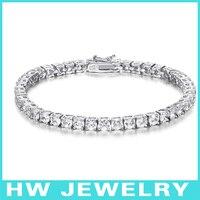 40162 3 75mm 925 Sterling Silver Tennis Bracelet