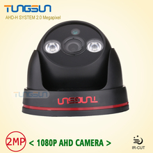 New Arrival 2MP HD 1080P AHD Camera Security CCTV Black indoor Dome Video Surveillance 2*Array infrared AHDH System