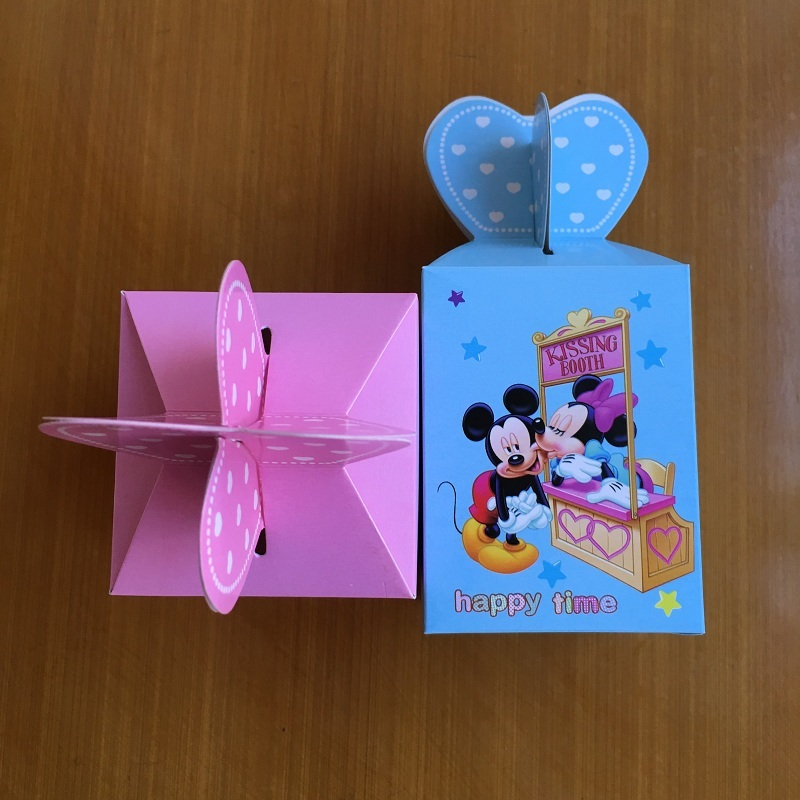 20pcs Minnie/Mickey Candy Box Wedding Favor Boxes For Chocolates Baby Shower Children Birthday Event Party Supplies Gift Box