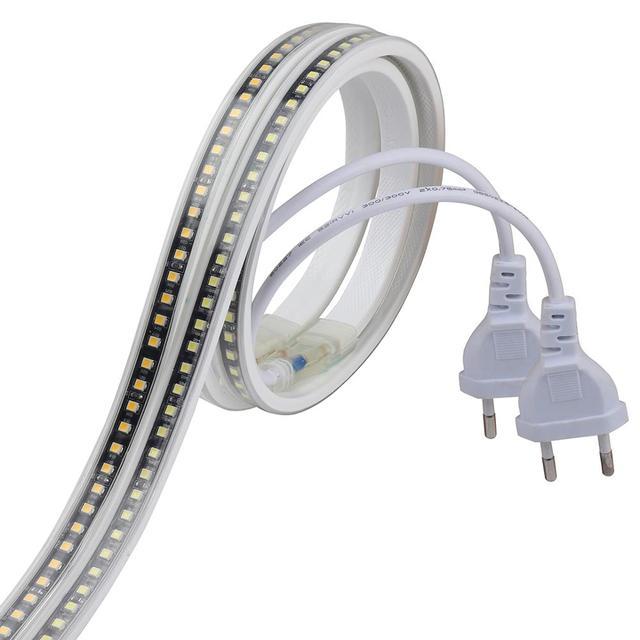 SMD4040 HA CONDOTTO il nastro senza trasformatore di striscia del LED 220 V impermeabile luce di striscia 220 V bianco bianco caldo ledstrip fascia nastro della banda