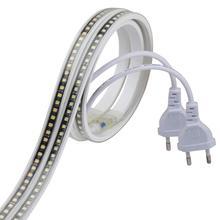 SMD4040 شريط LED لا محول LED قطاع 220 فولت شريط مضاد للمياه ضوء 220 فولت الأبيض الدافئ الأبيض ledbar شريط لاصق الشريط