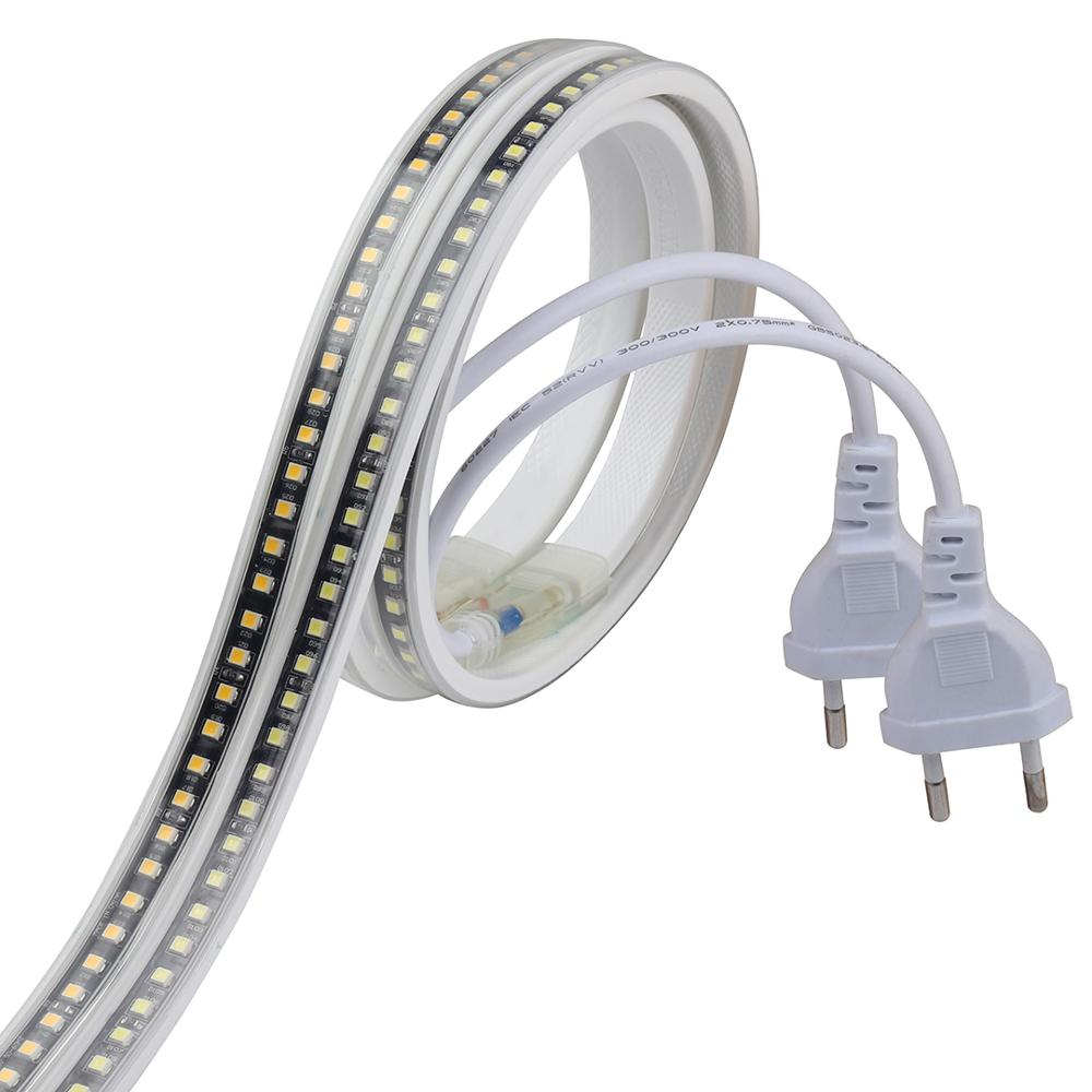 SMD4040 LED Ribbon No Transformer LED Strip 220V Waterproof Strip Light 220 V White Warm White Ledstrip Band Tape Stripe