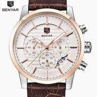 2017 Luxury Brand Benyar Men S Watch Fashion Quartz Watch Waterproof Man Watches Relojes Hombre Leather
