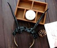 Punk Accessory Props Cos Cute Flower Sheep Antlers Headband Hair Forest Horns Headdress Gothic Headwear Cosplay
