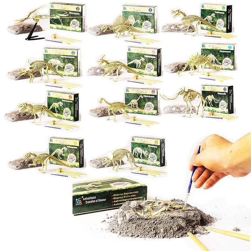 Dinosaur fossil archaeological fun mining children's educational toys