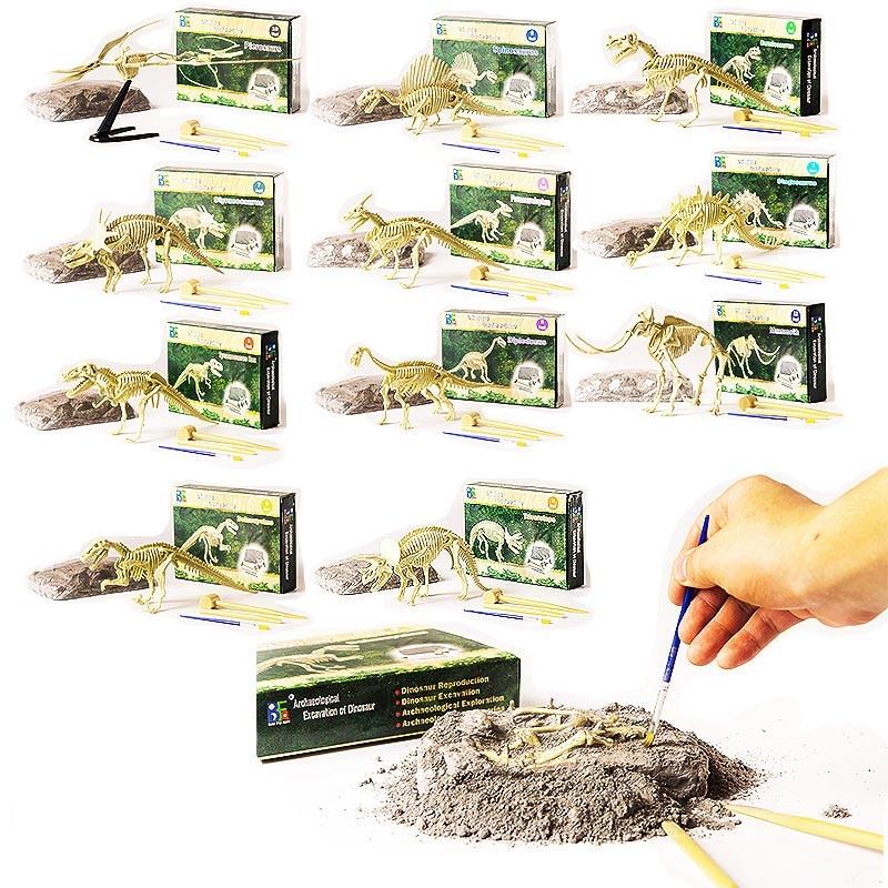 Dinosaur fossil archaeological fun mining childrens educational toys