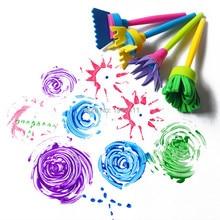 4pcs/lot Creative Flower Stamp Sponge Brush Set Art Supplies for Kids DIY Painting Tools drawaing toys
