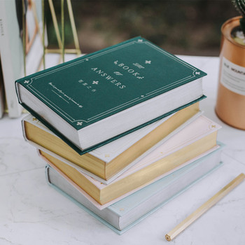 Answers Book ver.2 Big Hard Cover Journal Diary Lined Papers Freenote Study Working Notebook Stationery Gift green leaves slim beautiful hard cover notebook pocket journal diary grids papers freenote