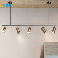 Gold Lampshade Pendant Lights LED Hanging Spotlight Lamp GU10 Nordic Modern Lighting for dinning room metal suspension luminaire