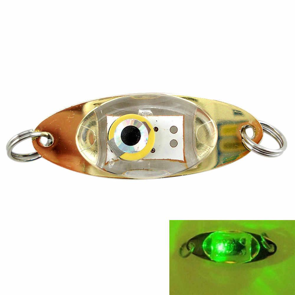 Eye Shape Attracting Fish Lamp Bass Spoon Fishing Squid LED Lure Light
