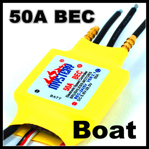 2-3S Lipo 50A 5V/2A BEC Brushless Speed Controller ESC For RC Boat BEC50A/S With Water Cooler  вольтметр 50v 50a lifepo4 lipo tf01n