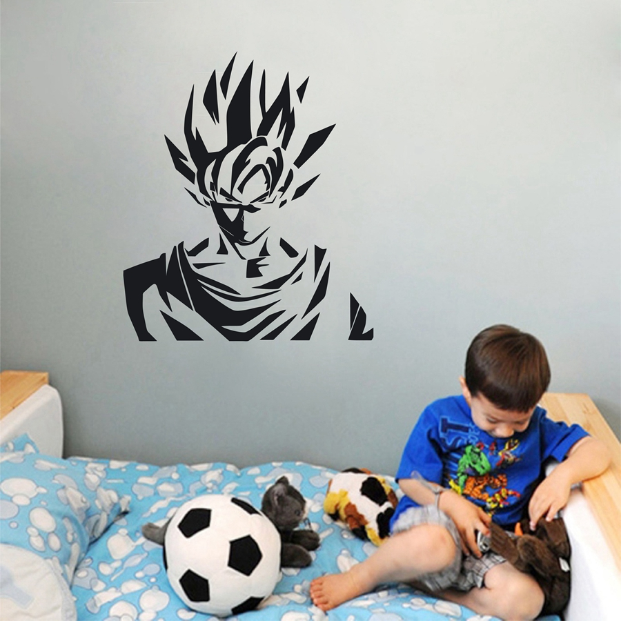 Dragon Ball Z DBZ  Super Saiyan Goku Anime Vinyl Die Cut Decal Sticker  αυτοκολλητα τοιχου καθρεπτησ