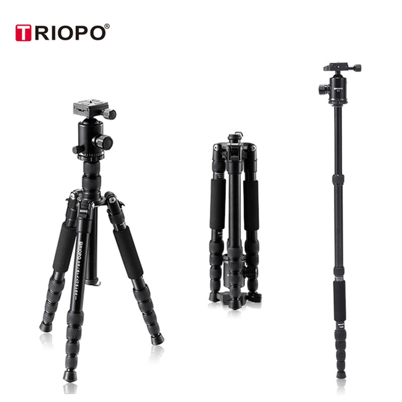2018 New! Professional Photographic Portable Tripod To Monopod+Ball Head For Digital SLR DSLR Camera Fold 38cm Max Loading 15Kg zomei z888 5 color professional portable traveling tripod monopod ball head for digital slr dslr camera 15kg maximum loading
