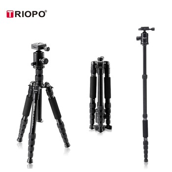 2018 New! Professional Photographic Portable Tripod To Monopod+Ball Head For Digital SLR DSLR Camera Fold 38cm Max Loading 15Kg