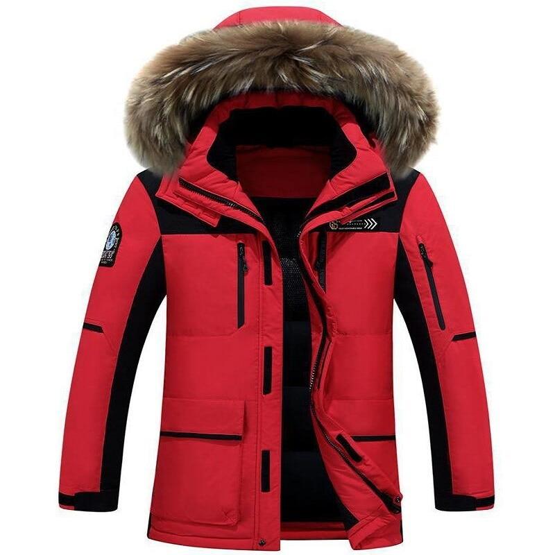 Зимние Повседневное Канада Для мужчин s мех Куртка с воротником Армейский зеленый верхняя одежда пальто человек куртка Ropa Hombre зимняя куртка...