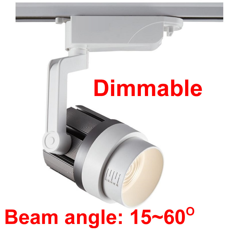 Zoom Spot LED Track Light Dimmable 110V 220V Clothes Shop