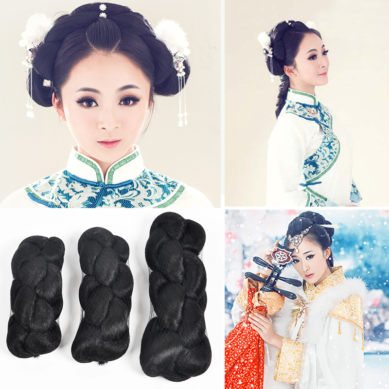 Buy Cheap 1.1m Big Braid Long Black Braid Hair Qing Dynasty Hair Accessories Chinese Ancient Warrior Cosplay Accessories Boys Costume Accessories