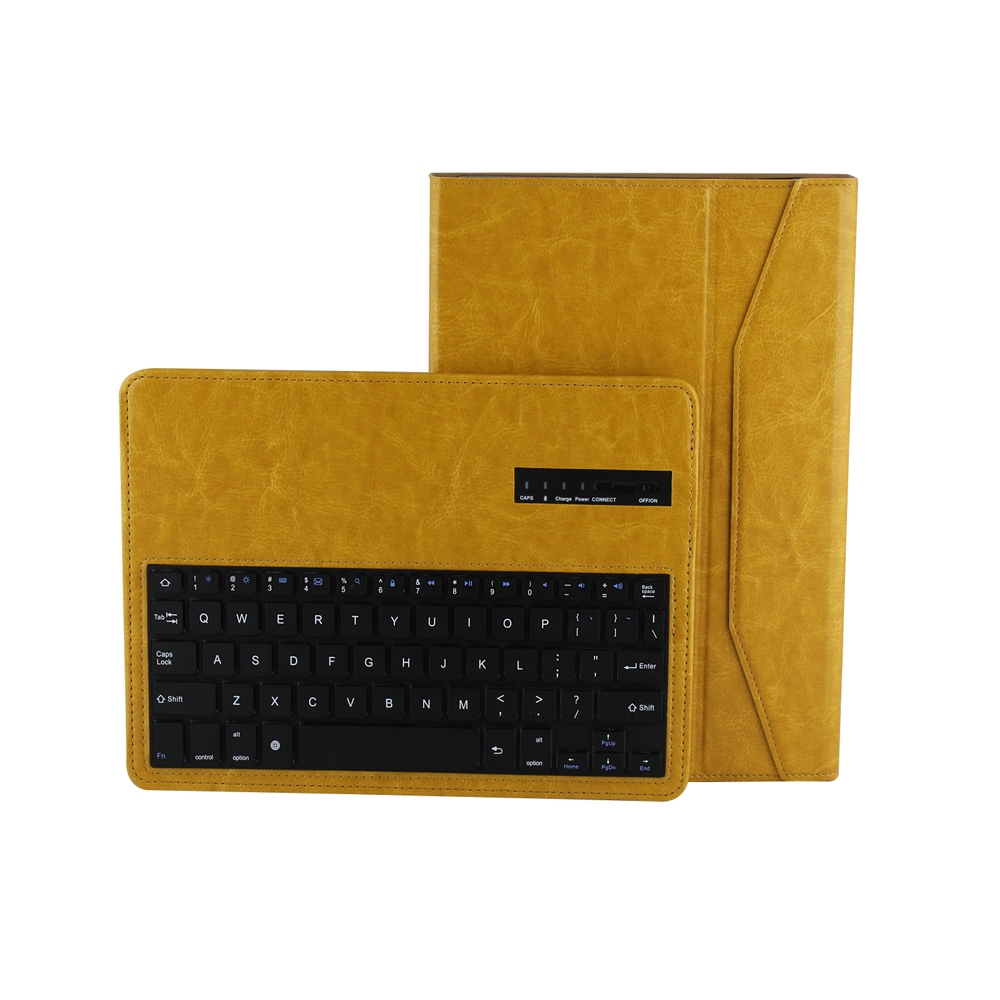 Fashion Crazy Horse PU Leather Removable Wireless Bluetooth Russian/Spanish/Hebrew Keyboard Stand Case Cover For Ipad Air Shell