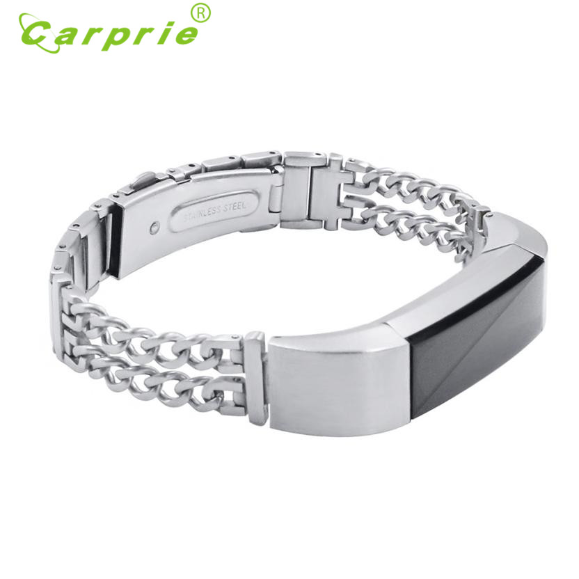 Carprie New Stainless Steel Accessory Bangle Watch Band Wrist strap For Fitbit Alta 17Jun30 Dropshipping