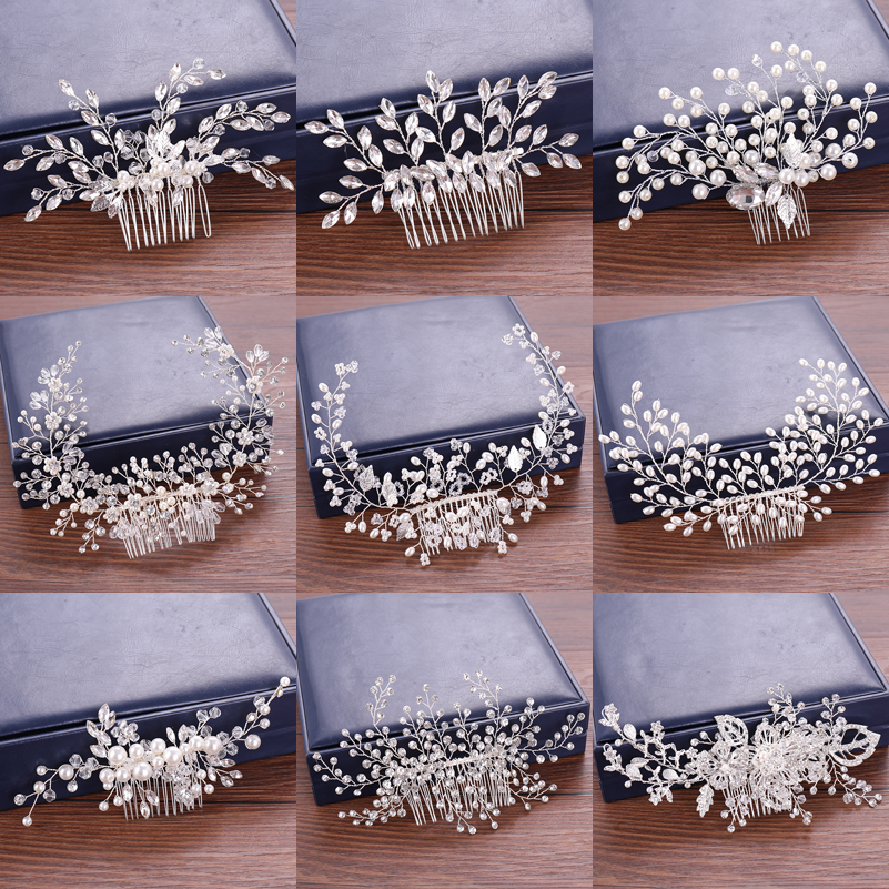 Wedding Hair Accessories Hair Combs Pearl Bridal's Tiaras Rhinestone Women Accessories Floral and Pearl Hair Comb Head Ornaments-in Hair Jewelry from Jewelry & Accessories on Aliexpress.com | Alibaba Group
