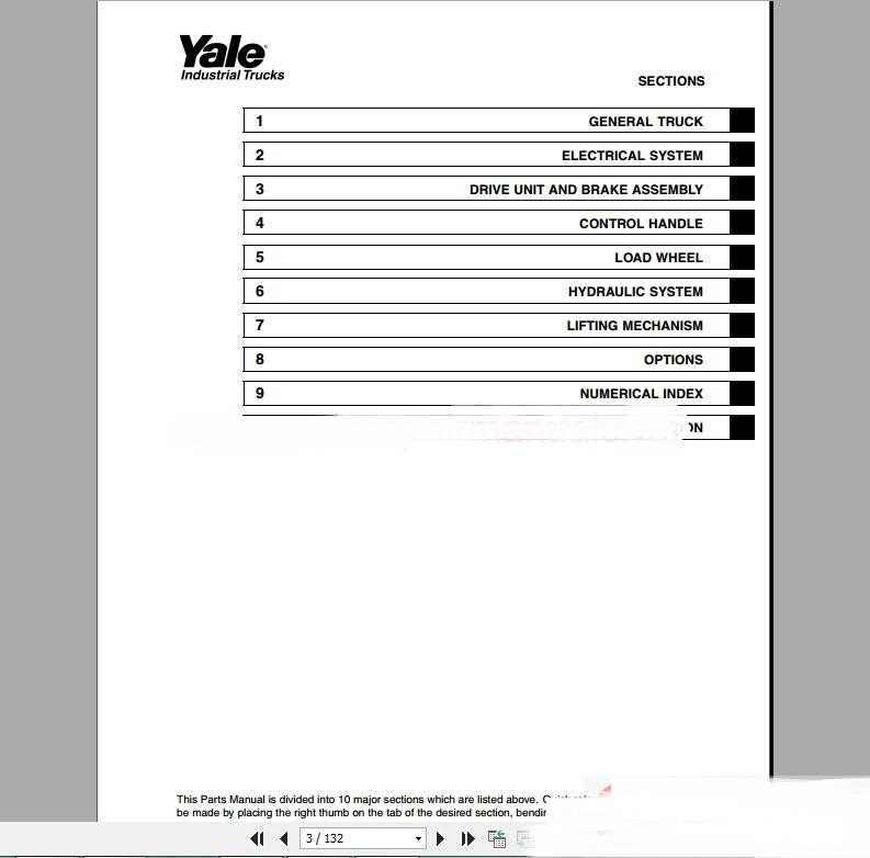 Yale Forklift full set PDF (Parts & Manuals)|full set ... on
