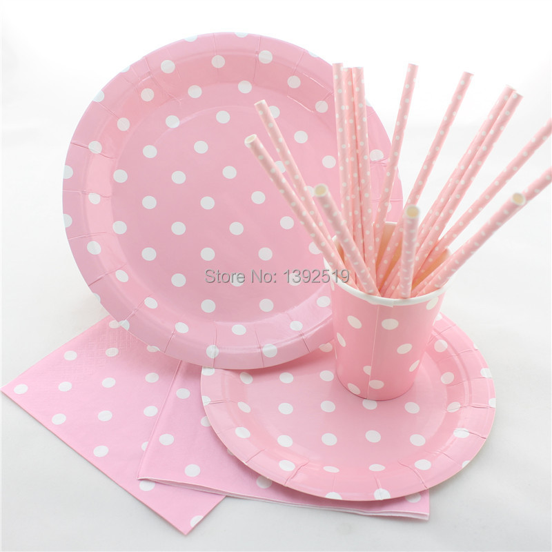 aliexpresscom buy 20setspcs for 20 people using beautiful dot design baby birthday party decoration wedding party paper plate set from reliable baby - Decorative Paper Plates