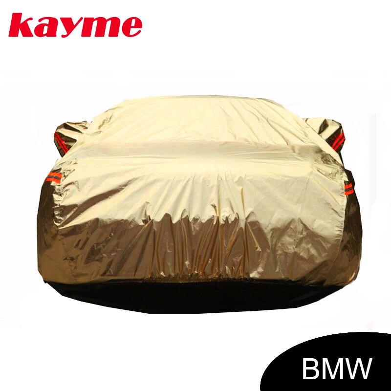 Kayme en aluminium Imperméable À L'eau de voiture couvre super protection solaire couverture de voiture pour BMW e46 e60 e39 x5 x6 x3 z4 e90 e36 e34 e30 f10 f30