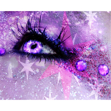 Diamond Embroidery Full square Eyes colorful shine picture 5D Diy diamond painting mosaic home decor H42