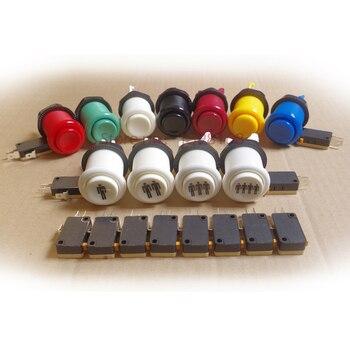 1 шт. высокое качество кнопка Аркады Jamma игра длинный Кнопочный микропереключатель для аркадной игры машина DIY Mult Цвет Бесплатная доставка