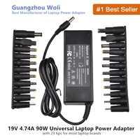 19V 4.74A Caricabatterie universale 90W per Acer Asus Dell HP Lenovo Samsung Toshiba Laptop 18.5V 19.5V 20V