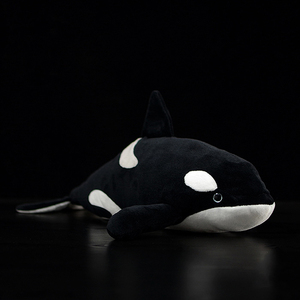 """Image 1 - 15"""" Lifelike Extra Soft Orca Plush Toy Killer Whale Stuffed Animal Toys For Kids Ocean Life Toy Birthday Gifts"""