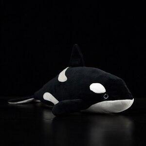 Image 1 - Jouets vivants orques Extra doux, 15 pouces, jouets de baleine tueur en peluche pour enfants, jouet de vie océanique, cadeaux danniversaire
