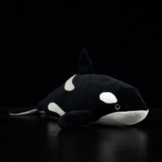 Juguete de peluche de 15 pulgadas con forma de ballena para niños, juguete de felpa con relleno de Animal