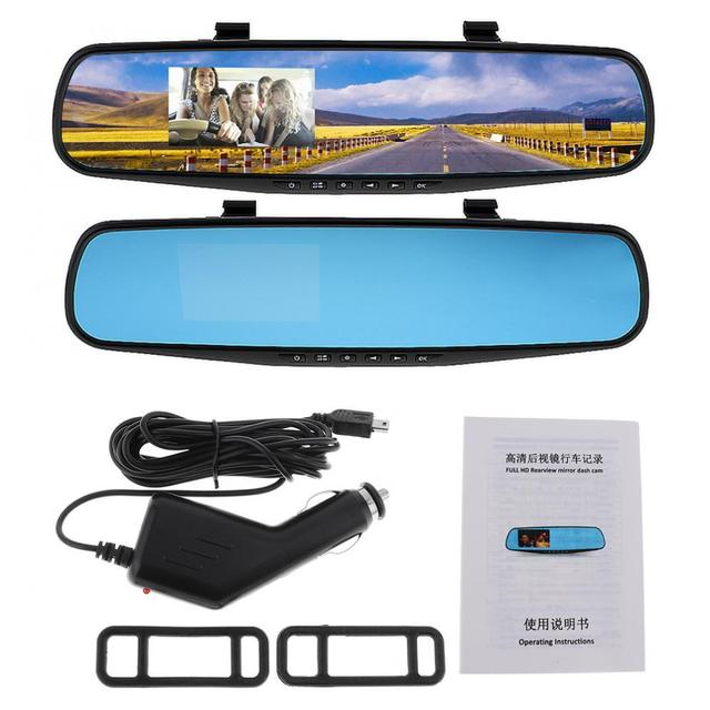 """2.7"""" Car DVR Camera 1080P LCD HD Auto Camcorder Dash Cam Video Recorder Rearview Mirror Vehicle Automobile DVR Motion Detection"""