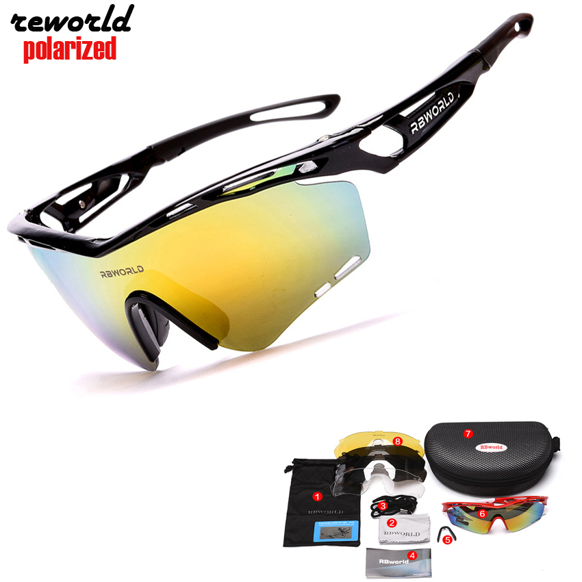 New Brand Men Polarized Cycling Glasses Outdoor Sports Bicycle Glasses Bike Sunglasses TR90 Goggles Cycling Eyewear UV400 5 Lens veithdia brand fashion unisex sun glasses polarized coating mirror driving sunglasses oculos male eyewear for men women 3360